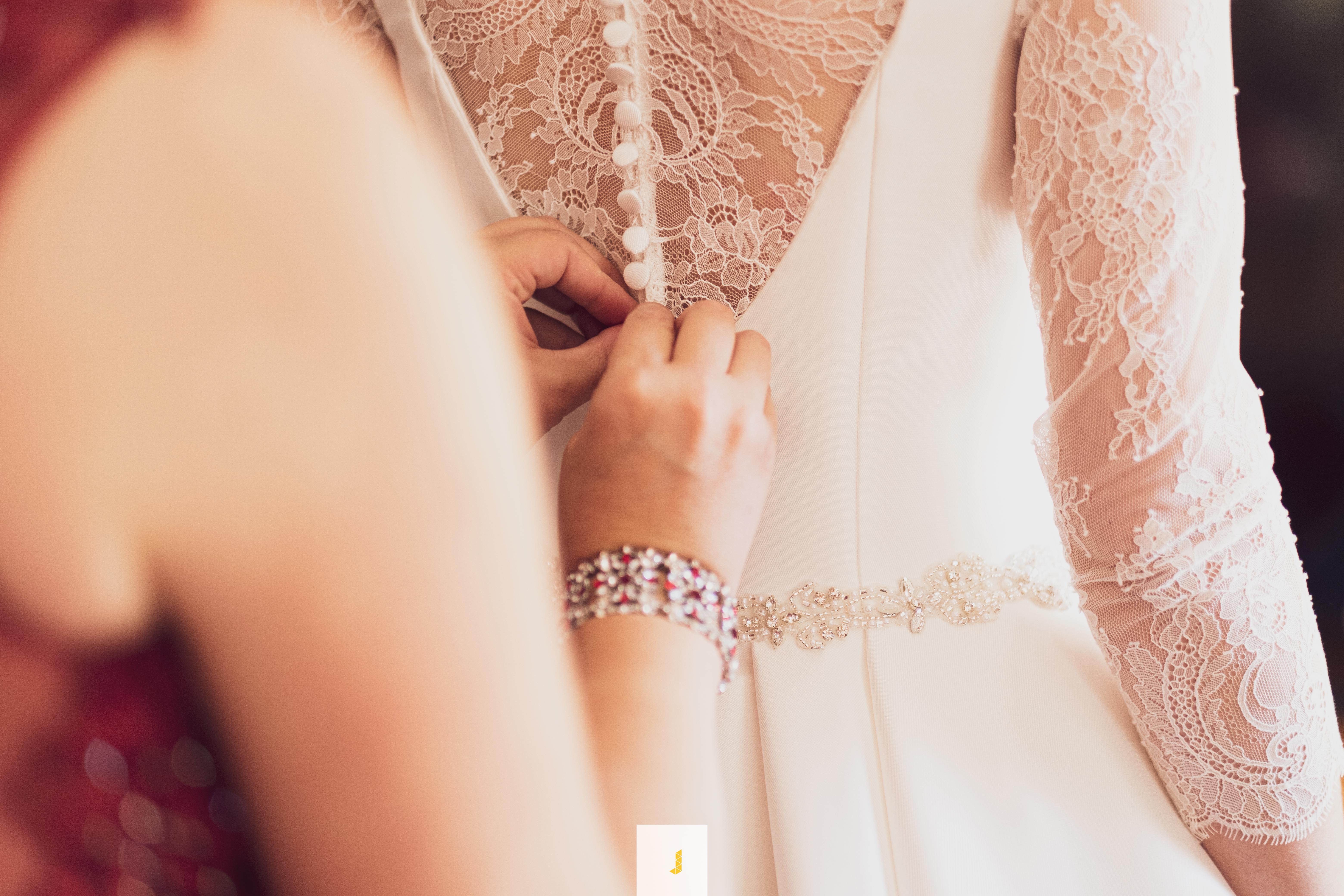 detalle traje de novia
