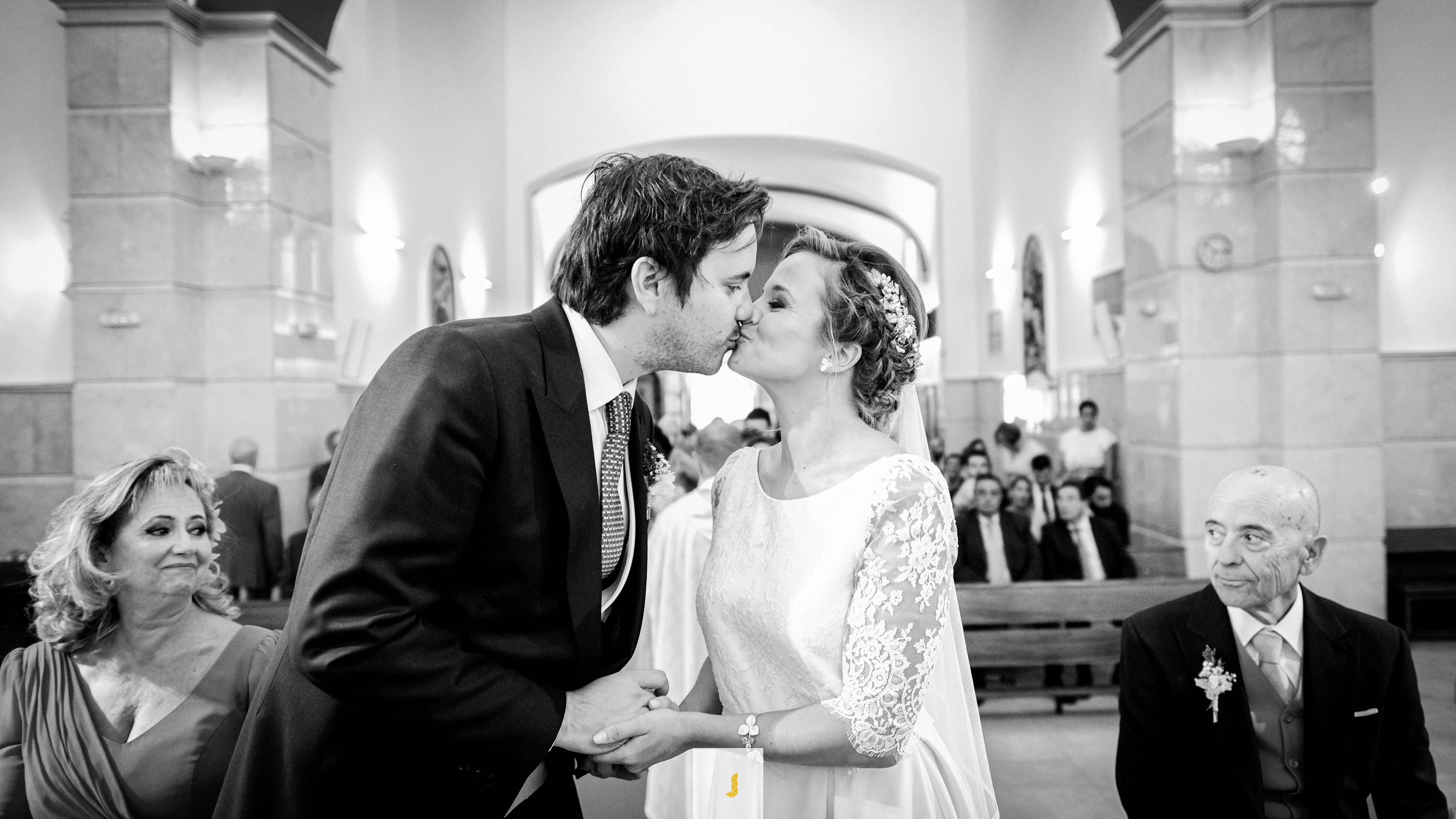 Fotografia de bodas blanco y negro